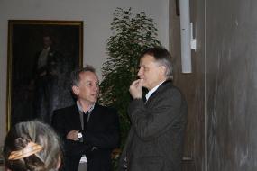 """""""Alte Giessener"""" im Gespräch: Wolfgang Friedt (r.) und Frank Ordon (l.)"""